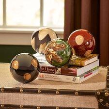 4 Piece Ceramic Ball Sculpture Set
