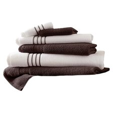 Lapeer Egyptian Cotton 6 Piece Striped Towel Set