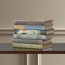 Wood Book Box (Set of 6)