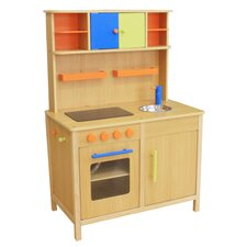 Lots of Fun Wooden Play Kitchen