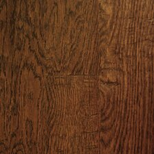 "Chalmette Hand Sculpted 5"" Engineered Oak Flooring in Ebony"