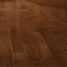 """5"""" Solid Red Oak Hardwood Flooring in Saddle"""