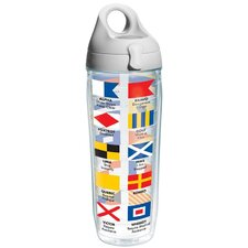 On The Water Nautical Flags Water Bottle