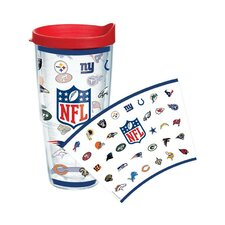 NFL All Logo Wrap 24 Oz. Tumbler with Lid