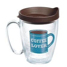 Eat Drink Be Merry I Love Coffee Mug with Lid