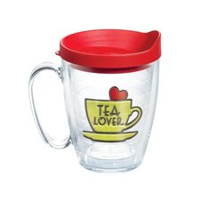 Eat Drink Be Merry Tea Lover Mug with Lid