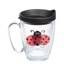 Garden Party Lady Bug Mug with Lid