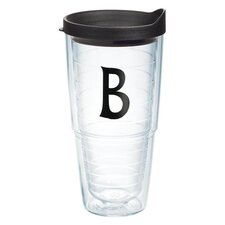 "Initials ""B"" Deco 24 Oz. Tumbler with Lid"