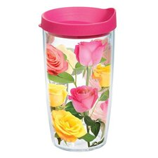 Garden Party Coming Up Roses 16 Oz. Tumbler with Lid