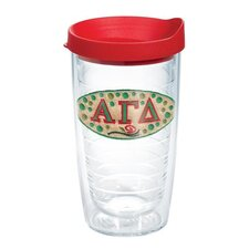 Greek Alpha Gama Delta 16 Oz. Tumbler with Lid