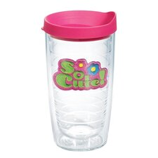 Totally Kids So Cute 16 Oz. Tumbler with Lid