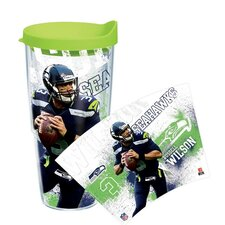 NFL Seattle Seahawks Russell Wilson 24 Oz. Tumbler with Lid