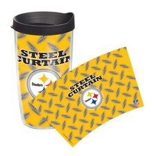 NFL Pittsburgh Steelers Steel Curtain 16 Oz. Tumbler with Lid