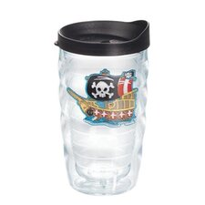 Totally Kids Pirate Ship 10 Oz. Wavy Tumbler with Lid