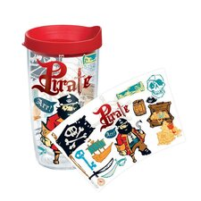 Totally Kids Pirate Collage 16 Oz. Tumbler with Lid