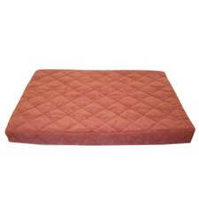 Quilted Orthopedic Dog Bed with Protector™ Pad in Earth Red