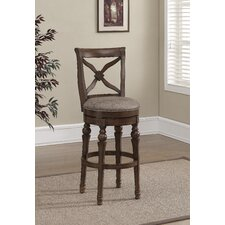 Livingston Swivel Bar Stool with Cushion