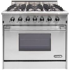 5.2 Cu. Ft. Gas Convection Range in Stainless Steel