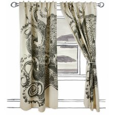 Octopus Single Curtain Panel