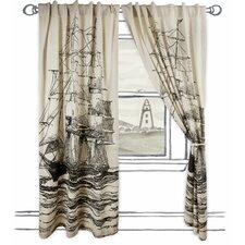 Maritime Single Panel Window Curtain