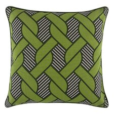 Pop Knot Cotton Throw Pillow