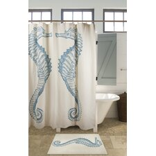 Seahorse Cotton Shower Curtain