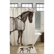 Thoroughbred Cotton Shower Curtain