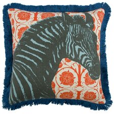 "Zebra 18"" Linen Throw Pillow"