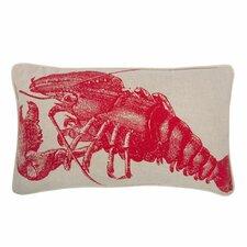 Lobster 12x20 Linen Lumbar Pillow