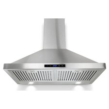 "30"" 760 CFM Convertible Wall Mount Range Hood in Stainless Steel"