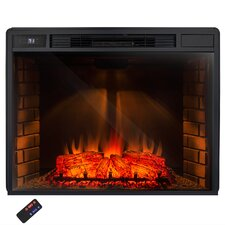 "33"" Insert Freestanding 3D Logs Flame Electric Fireplace with Remote"