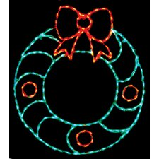 Wreath with Bow LED Light