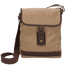 The Riverside Small Canvas Field Crossbody Tablet Messenger Bag