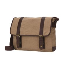 "The Riverside 16"" Flap Over Canvas Tablet Laptop Messenger Bag"