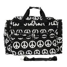 """Peace Sign 19"""" Shoulder Duffel Bag"""