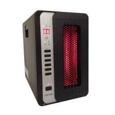 5,120 BTU Portable Electric Infrared Cabinet Heater with Remote