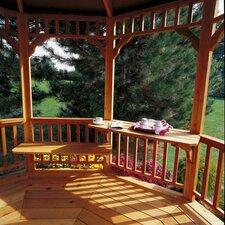 Phoenix 3' H x 8' W x 3' D Combination Cedar Bench