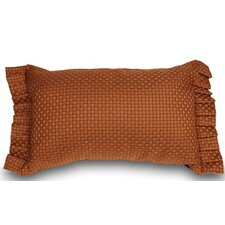 Basket Weaved Ruffled Accent Throw Pillow