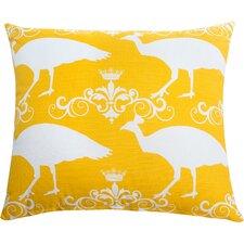 Peacock Accent Cotton Throw Pillow