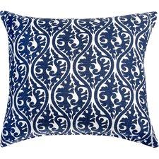 Kimono Accent Cotton Throw Pillow