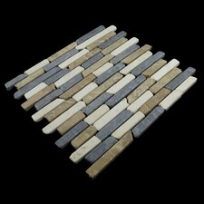 Natural Stone Sticks Mosaic Tile in Tan, White and Grey Blend