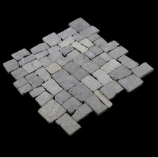 Blocks Random Sized Natural Stone Mosaic Tile in Grey