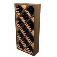 Designer Series 212 Bottle Diamond Bin with Face Trim Wine Rack