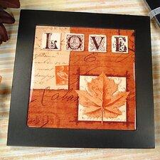 Fall in Love Ceramic Trivet