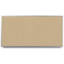 Narrow Aluminum Framed Cork Bulletin Board