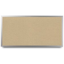 Wide Aluminum Framed Cork Bulletin Board
