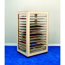 "49.63"" H x 24.5"" W x 28.63"" D Mobile 14 Compartment Paper Storage Rack"