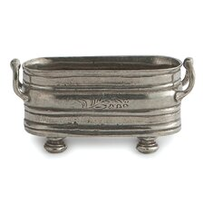 Vintage Footed Oval Serving Bowl