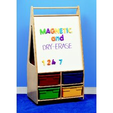 Mobile Magnetic Dry-Erase Double-Sided Easel