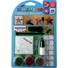 16 Piece Christmas Glitter Tattoo Set